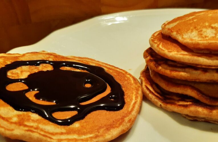 TORTITAS INTEGRALES con sirope de chocolate